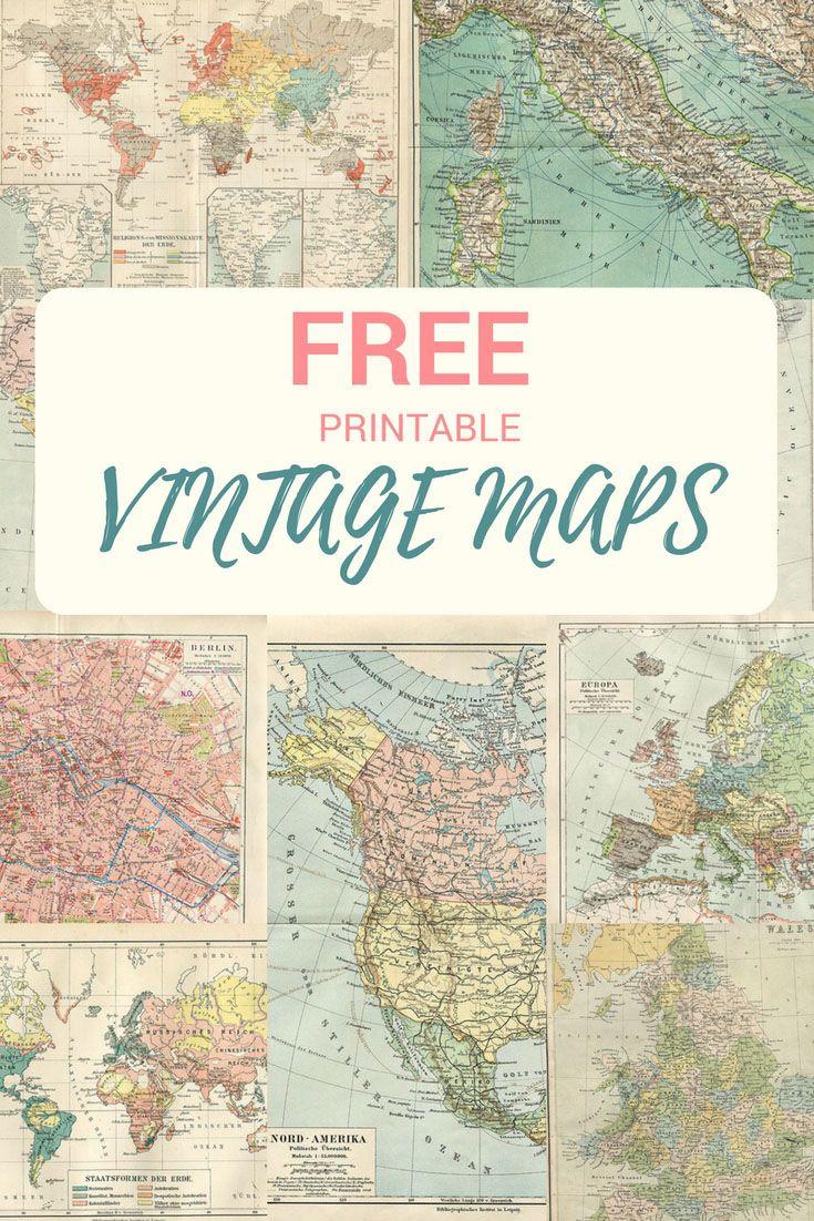 Wonderful Free Printable Vintage Maps To Download | Free Printables - Vintage Map Printable