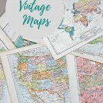 Wonderful Free Printable Vintage Maps To Download   Pillar Box Blue   Printable Antique Maps Free
