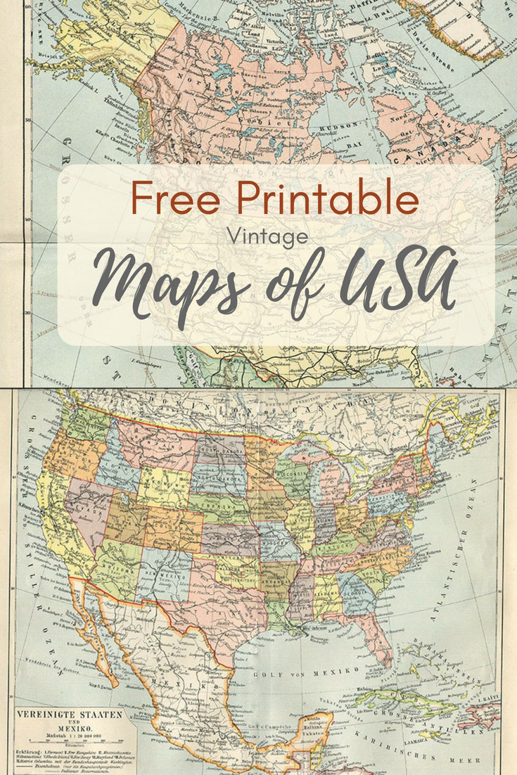 Wonderful Free Printable Vintage Maps To Download - Pillar Box Blue - Printable Antique Maps