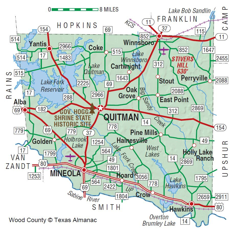 Wood County | The Handbook Of Texas Online| Texas State Historical - Alba Texas Map