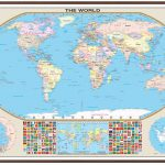 World Large Scale Wall Map – Kappa Map Group – Florida Wall Maps For Sale