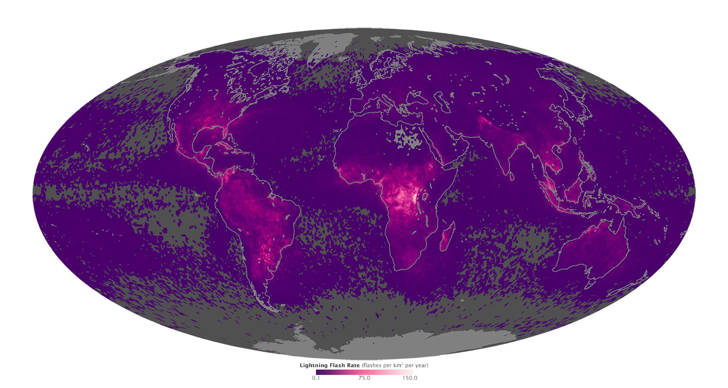 World Lightning Strikes Map - Lightning Map California