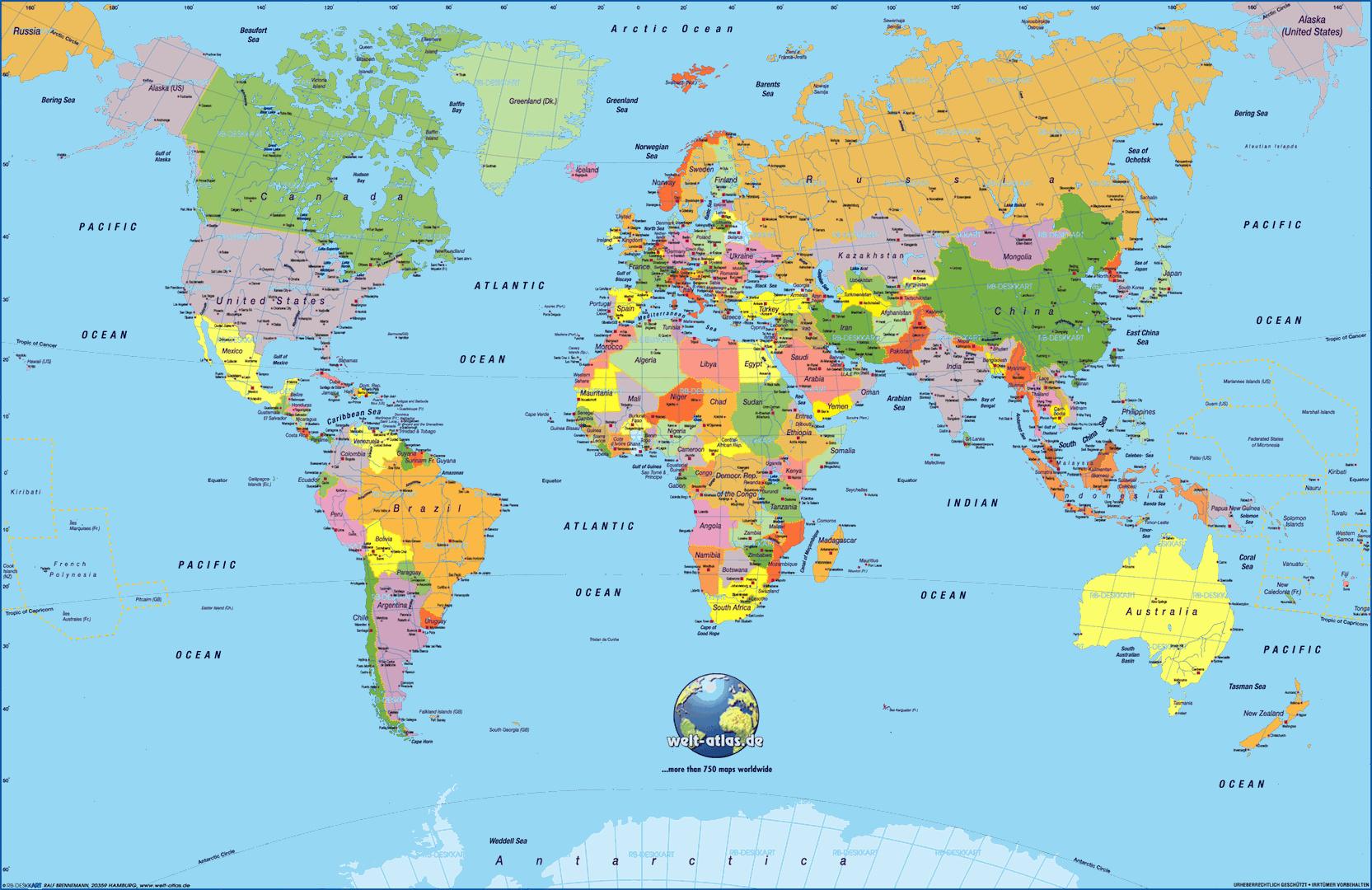 World Map Hd 4K | World Map | Pinterest | World Map Wallpaper, Map - World Map Poster Printable