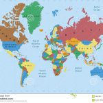 World Map Political Detailed Stock Image   Image Of Cartography   Detailed World Map Printable