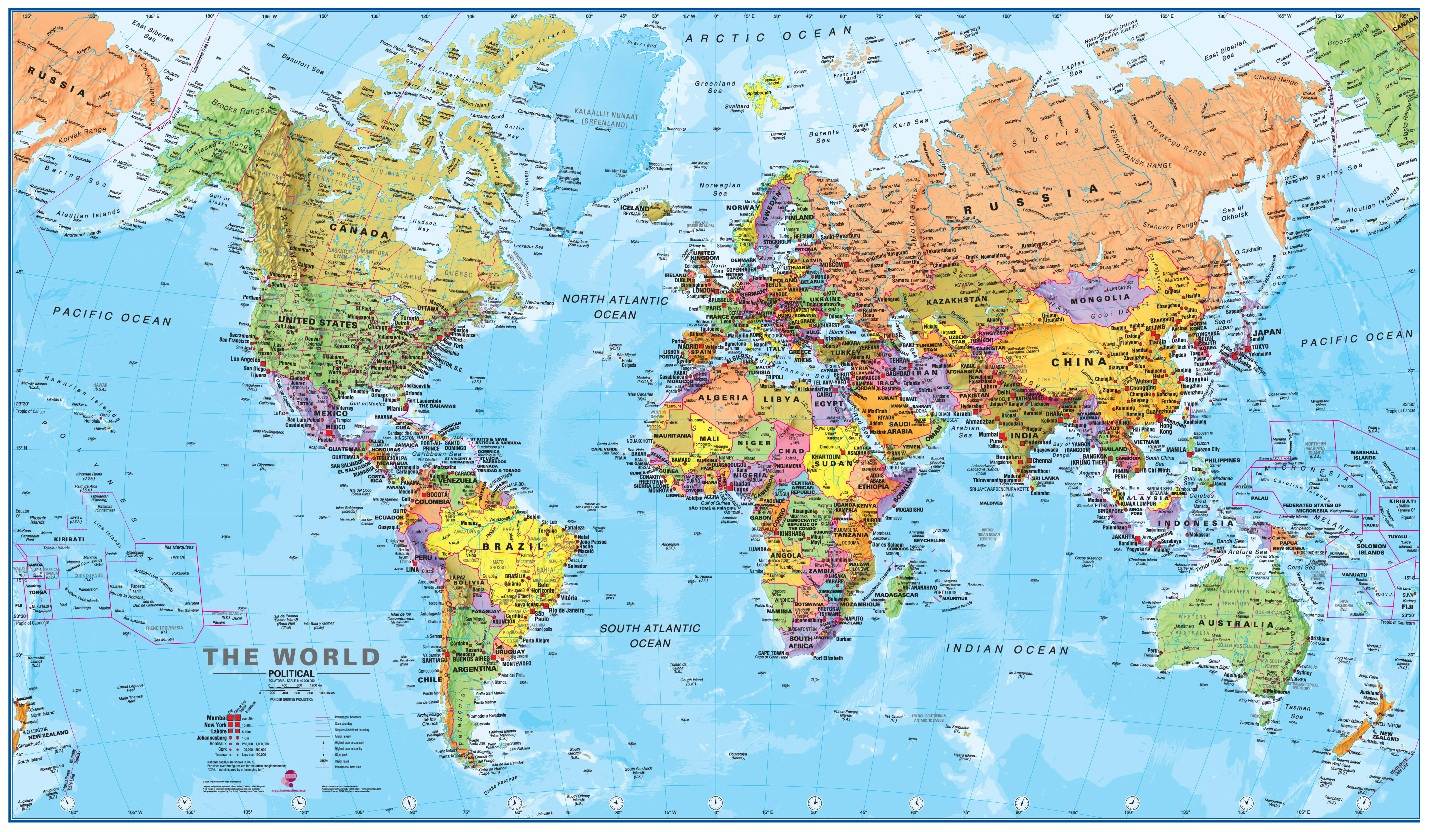 World Map Political With Country Names Download World Map Poster Usa - World Map Poster Printable