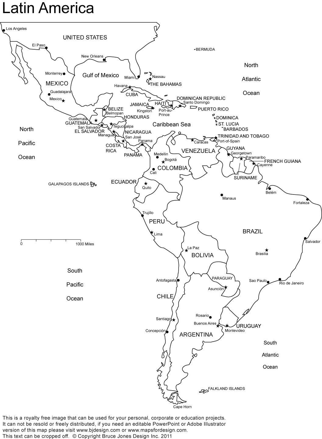 World Regional Printable, Blank Maps • Royalty Free, Jpg - Free Printable Map Of North America