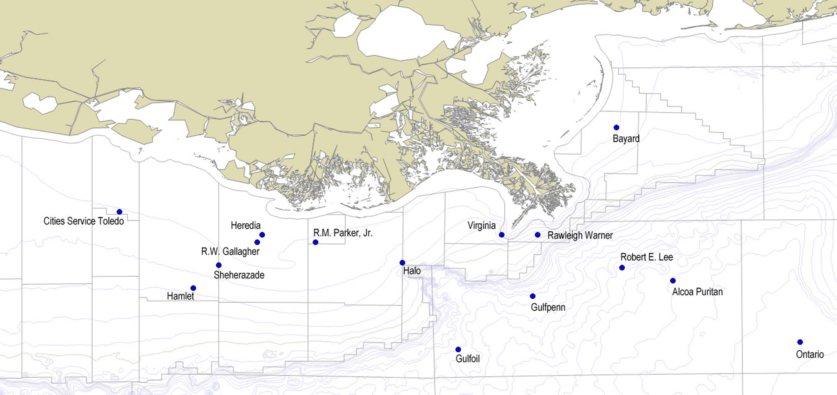World War Ii | Shipwrecks In The Gulf - Texas Gulf Coast Shipwrecks Map