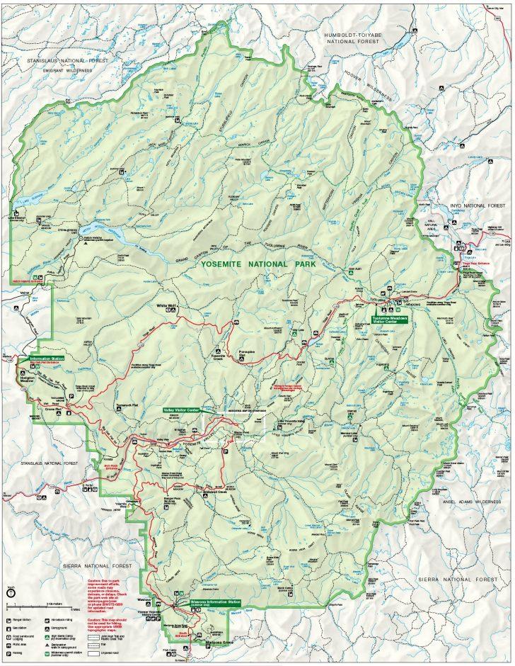 Yosemite California Map