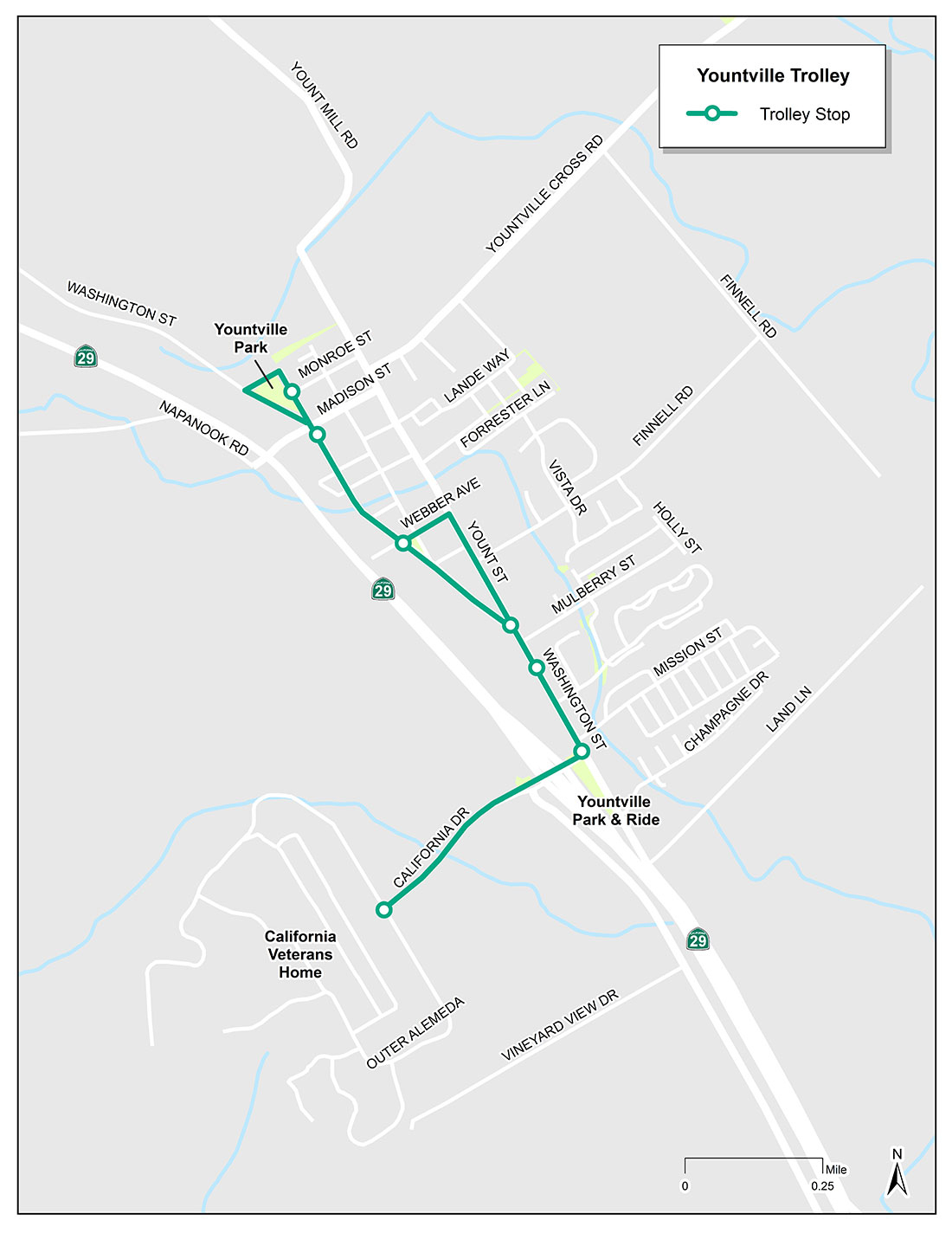 Yountville Trolley Maps Of California Where Is Yountville California - Where Is Yountville California On The Map