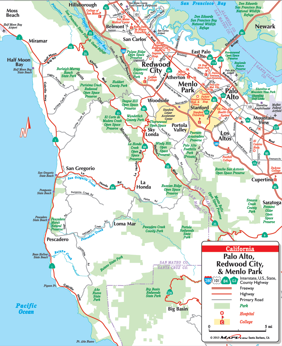 Your Resource For Local Maps In Palo Alto Ca Throughout California - Palo Alto California Map