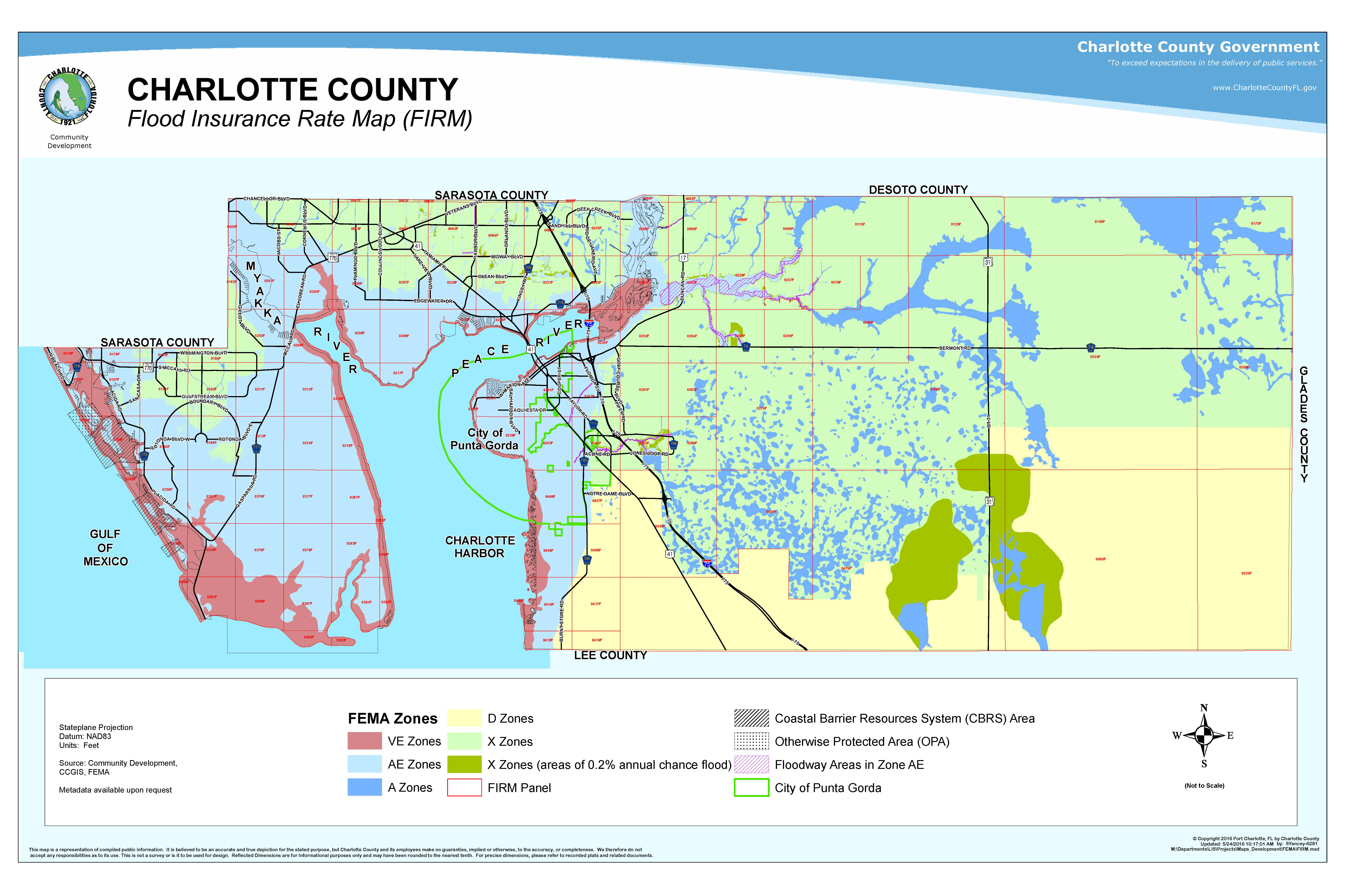 Your Risk Of Flooding - Where Is Punta Gorda Florida On A Map