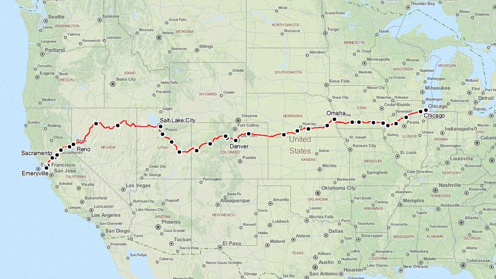 Zephyr Amtrak Map Map Of California Springs California Zephyr Route - Amtrak California Zephyr Map