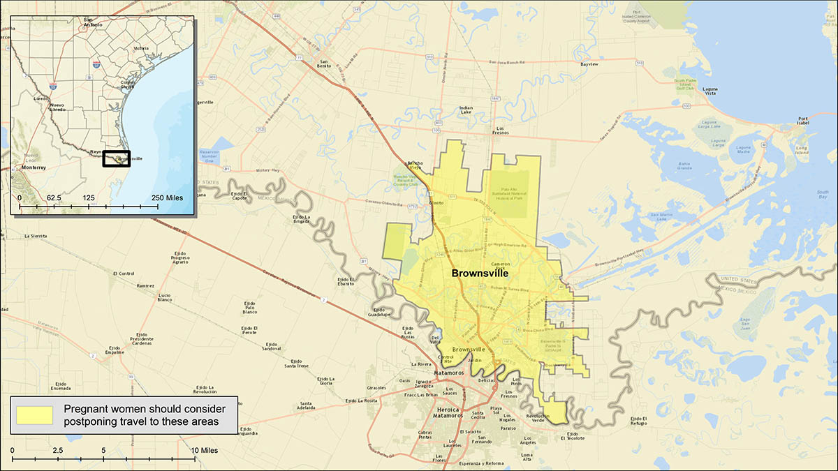 Zika Guidance Issued For Brownsville, Texas - Outbreak News Today - Brownsville Texas Map Google
