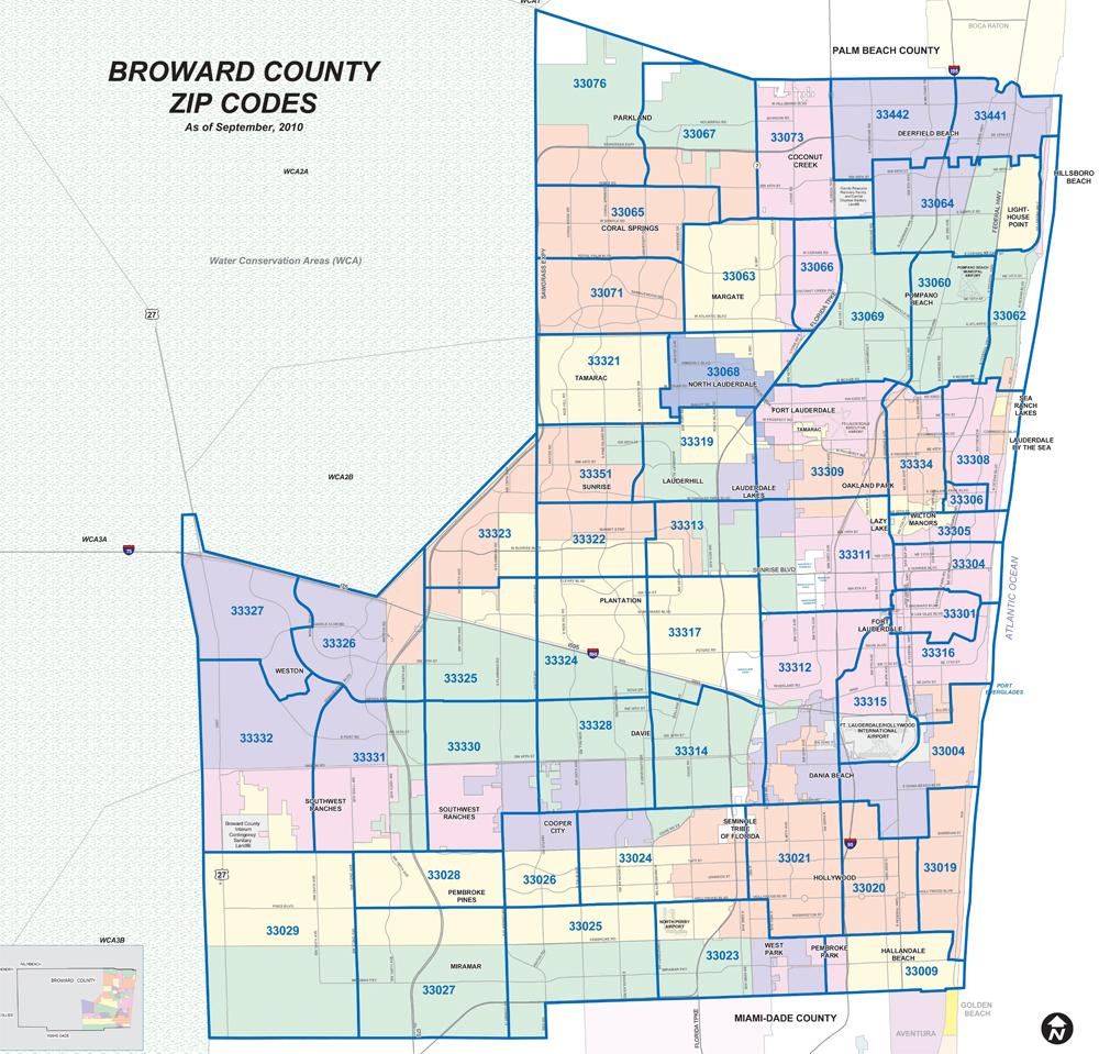 Zip Code Map Broward County Fl | Zip Code Map - Zip Code Map Of Palm Beach County Florida