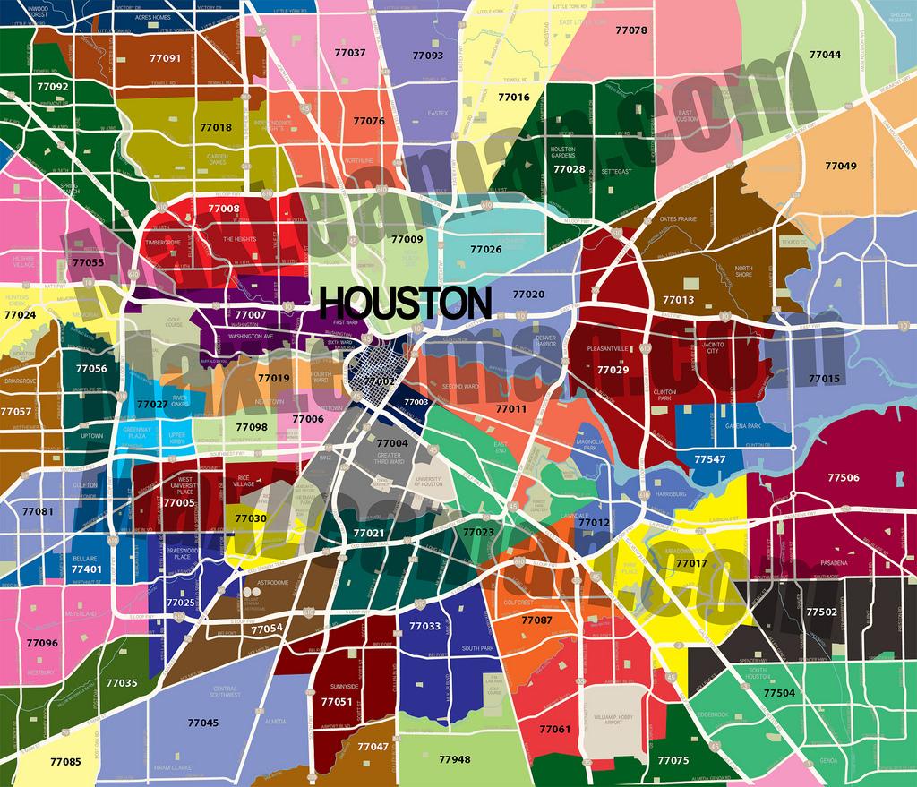 Zip Code Map Of Houston, Tx - Har - Texas Zip Code Map