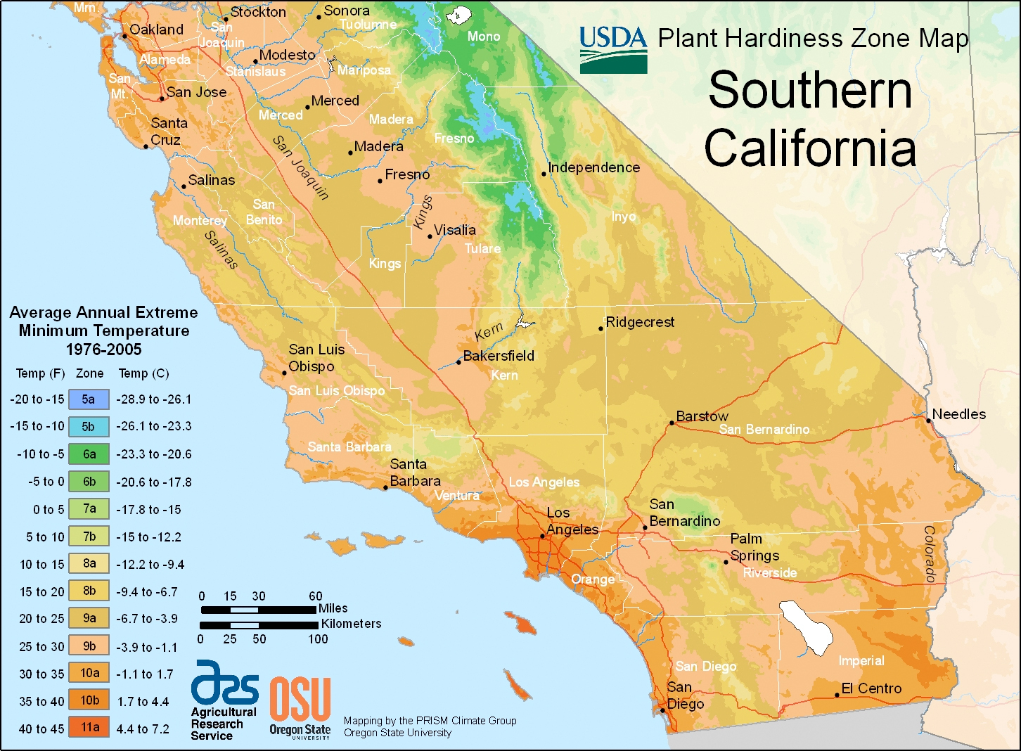 Zone Maps Maps Of California Climate Zone Map California Google Maps - Usda Map California