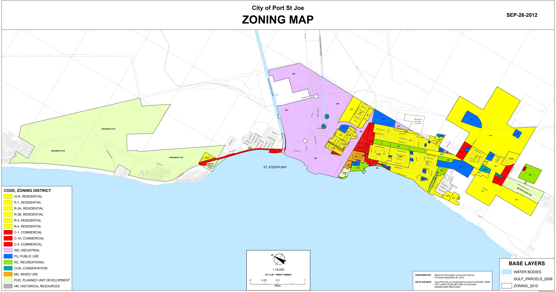Zoning Maps | 98 Real Estate Group - Street Map Panama City Florida