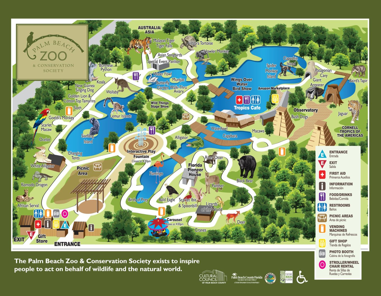 Zoos - West Palm Beach** - Zoos In Florida Map