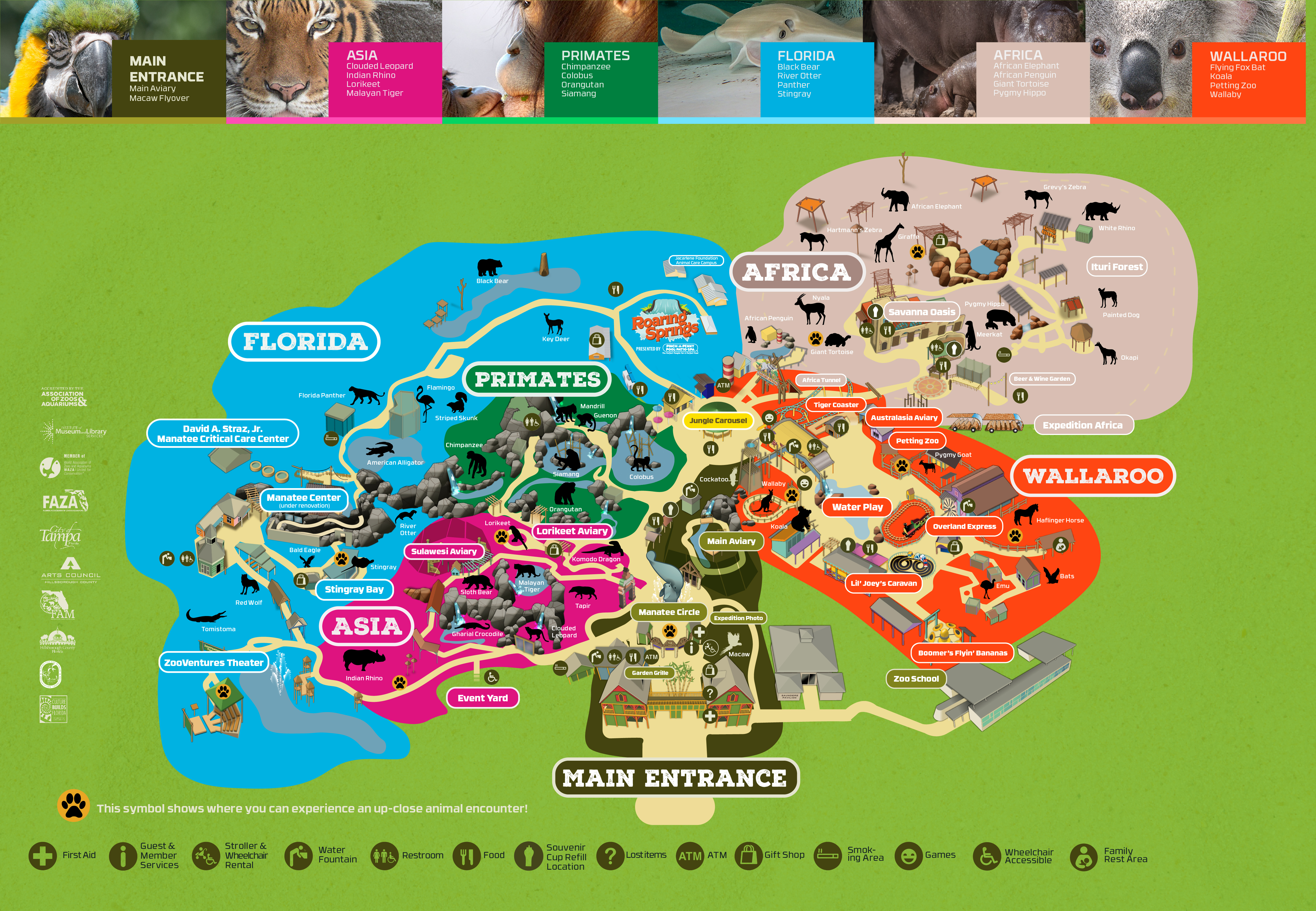 Zootampa At Lowry Park - Central Florida Zoo Map